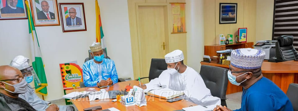 Honorable Commissioner for Rural Development, Engr Mustapha Mahmud Kanti Bello, visits the NNPC Towers, Abuja