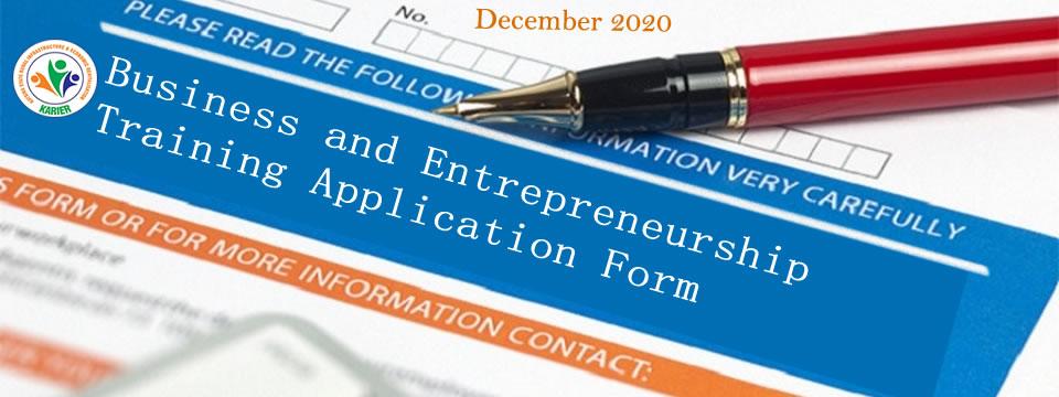 Application for KARIER Business and Entrepreneurship Training is now open